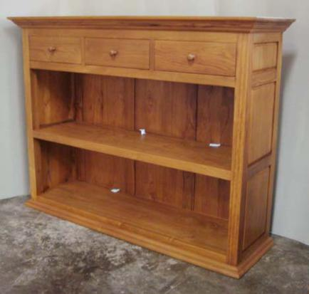 Bookshelf 130x36x106 W 3 Upper Drawers Baliette Home Furnishings Bali Teak Furniture Indonesia