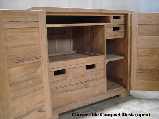 CONVERTIBLE Compact Desk Open Baliette Home Furnishings Bali