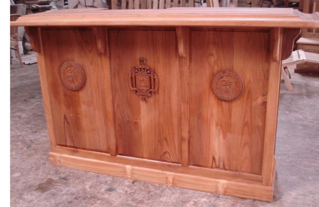 Custom BAR COUNTER Front Side 3 Panels Baliette Home