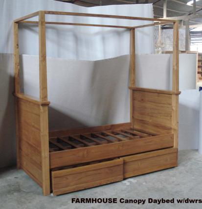 FARMHOUSE Canopy Daybed - Baliette Home Furnishings - Bali Teak