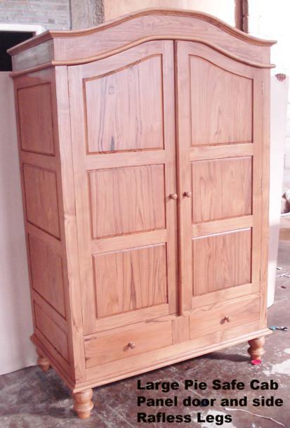 Pie Safe Cabinet Large Panel Door Amp Side Rafless Legs