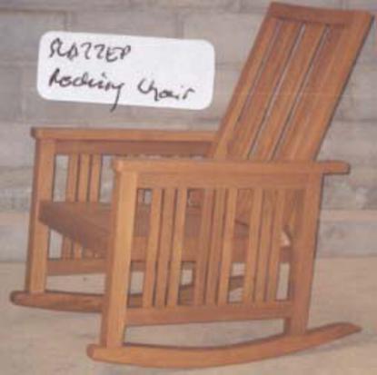 Rocking Chair Slatted Open Baliette Home Furnishings Bali Teak Furniture Indonesia